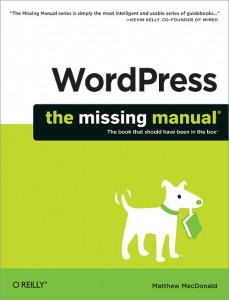 Book cover: WordPress - the missing manual