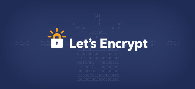 Let's Encrypt - logo - white text on blue with lock