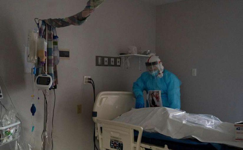 nurse, ICU bed, patient in body bag
